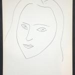 """Henri Matisse: Original Lithograph """"A la memoire de Angela Lamotte I"""" Verve 1945"""