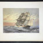 "Original Colored Lithograph ""H.M.S. Falcon"" printed by Griffin & Co 1880"