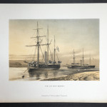 "Original Colored Lithograph ""H.M Gun Boat Medina"" printed by Griffin & Co 1880"