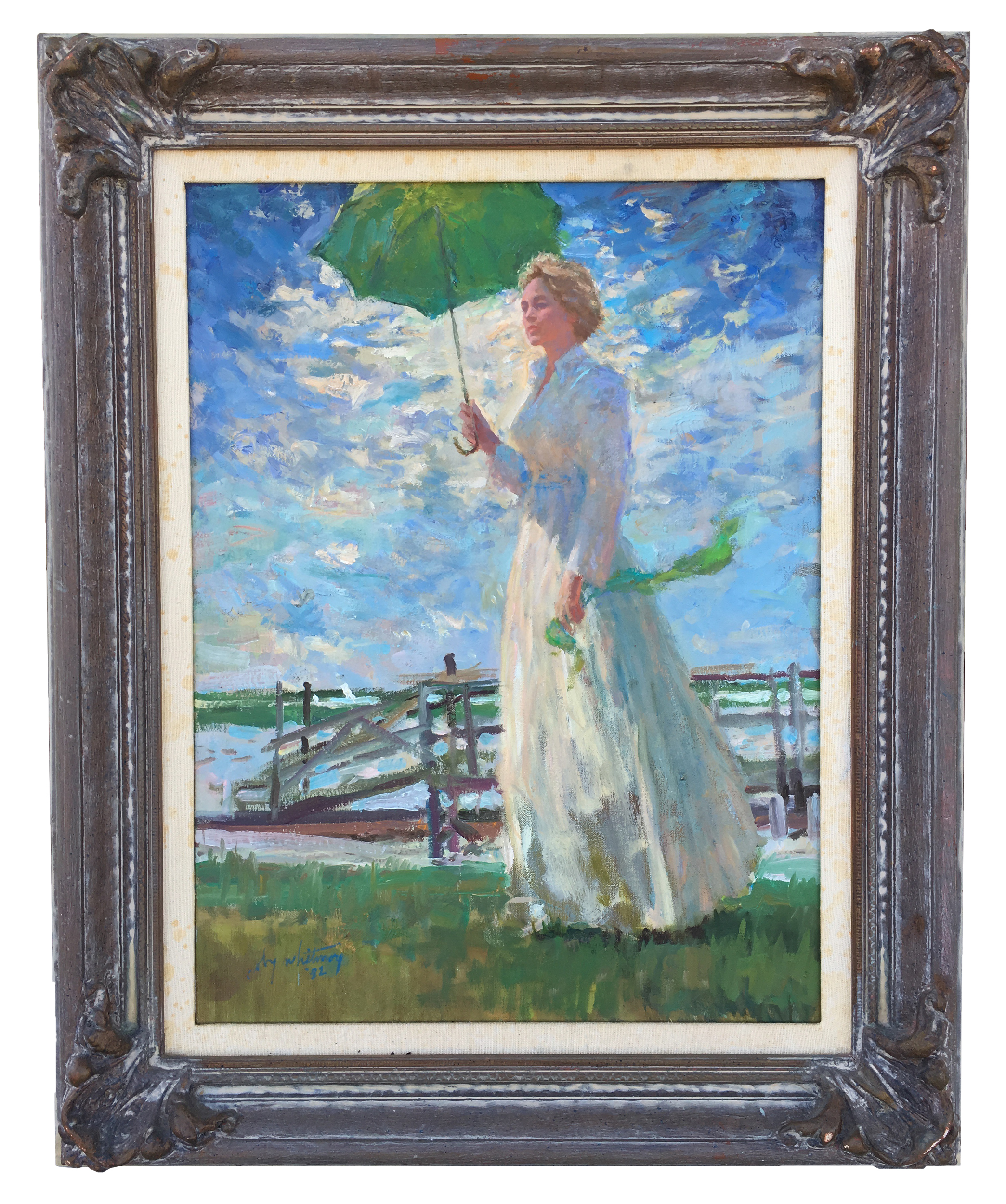 Coby Whitmore: Original Oil on Canvas - Woman with Parasol